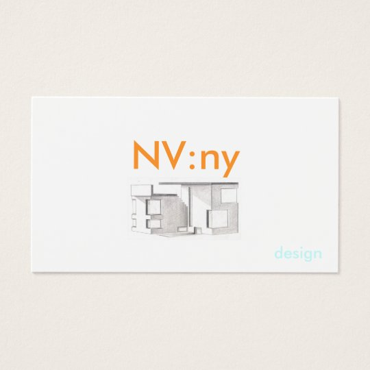 Pic, NV:ny, design - Customised Business Card