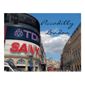 Piccadilly Circus London UK postcard