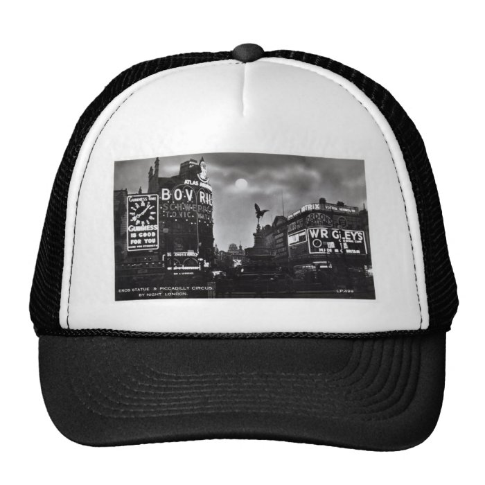 Piccadilly Circus, London Vintage Cap
