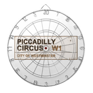 Piccadilly Circus London - Vintage Dartboard