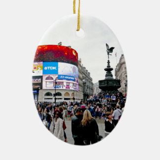 Piccadilly Circus - Professional photo Ceramic Oval Decoration