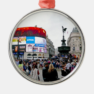 Piccadilly Circus - Professional photo Silver-Colored Round Decoration