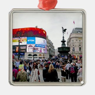 Piccadilly Circus - Professional photo Silver-Colored Square Decoration