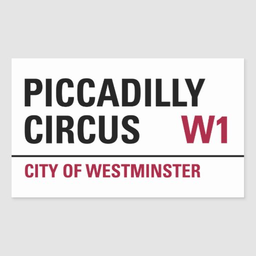 Piccadilly Circus Sign (pack of 4) Stickers