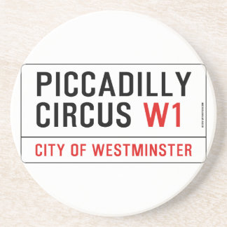 Piccadilly Circus Street Sign Coaster