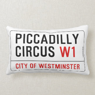 Piccadilly Circus Street Sign Lumbar Cushion