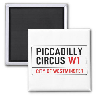 Piccadilly Circus Street Sign Magnet