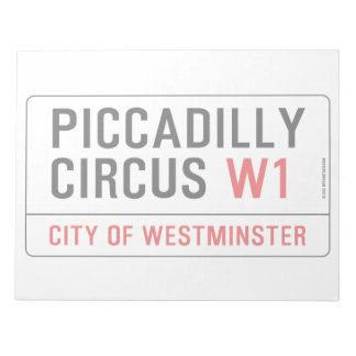 Piccadilly Circus Street Sign Notepad