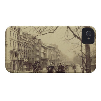 Piccadilly facing East, (sepia photo) iPhone 4 Case-Mate Case