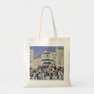 Piccadilly Snow Scene Budget Tote Bag