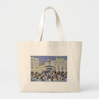 Piccadilly Snow Scene Large Tote Bag