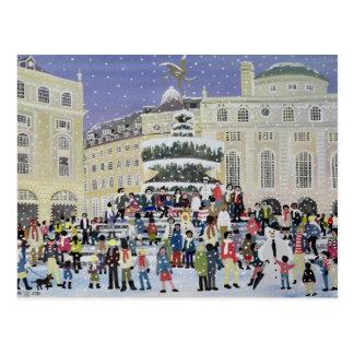 Piccadilly Snow Scene Postcard