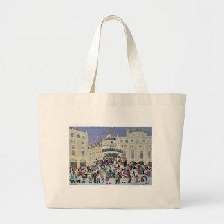 Piccadilly Snow Scene Jumbo Tote Bag