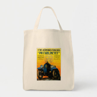 Piccard-Pictet Pic-Pic Vintage Auto Ad Canvas Bags