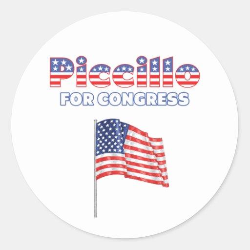 Piccillo for Congress Patriotic American Flag Sticker