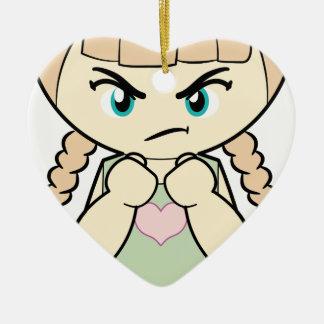 Piccola_Simo  Angry Ceramic Heart Decoration