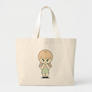 Piccola_Simo  Angry Large Tote Bag