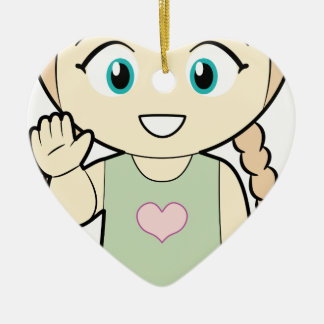 Piccola_Simo  Hello Ceramic Heart Decoration