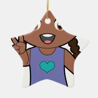 Piccola Simo  Victory (afro) Christmas Ornament
