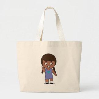 Piccola Simo  Victory (afro) Large Tote Bag