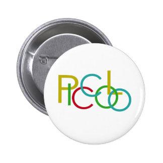 Piccolo Letters 6 Cm Round Badge