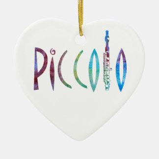 Piccolo Script Christmas Ornament