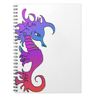 'Piccolo' the seahorse on a Notebook