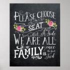 Pick a seat not a side sign wedding celebration