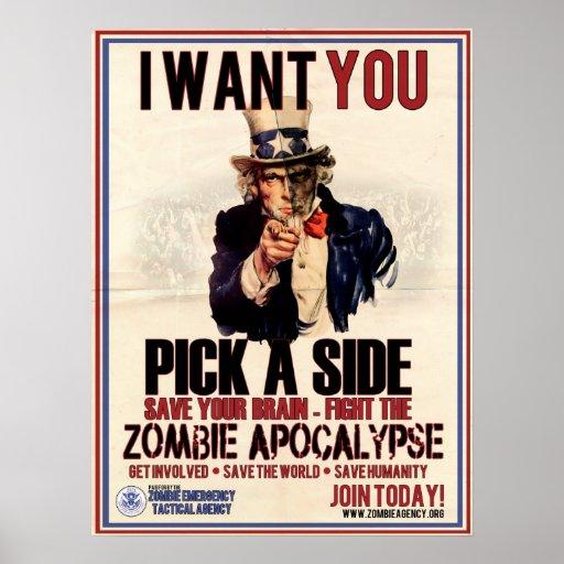 Pick a Side Uncle Sam PosterUncle Sam Side View