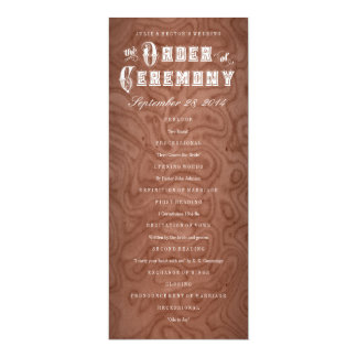 Pick Color Wood Country Rustic Wedding Programs 10 Cm X 24 Cm Invitation Card