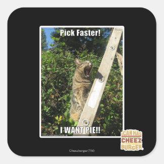 Pick Faster! Square Sticker