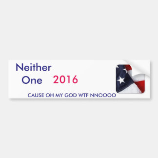 Pick from 2 candidates bumper sticker
