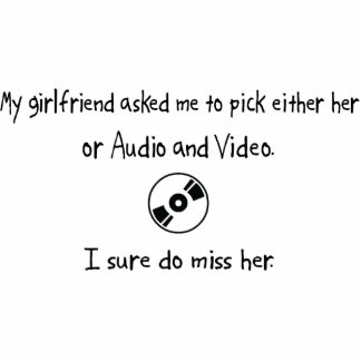 Pick Girlfriend or Audio and Video Photo Cutout