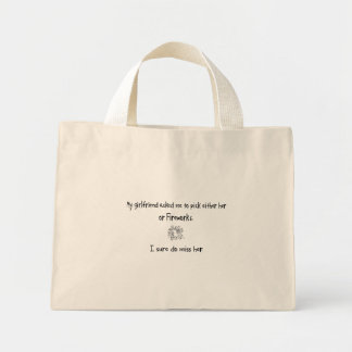 Pick Girlfriend or Fireworks Canvas Bags