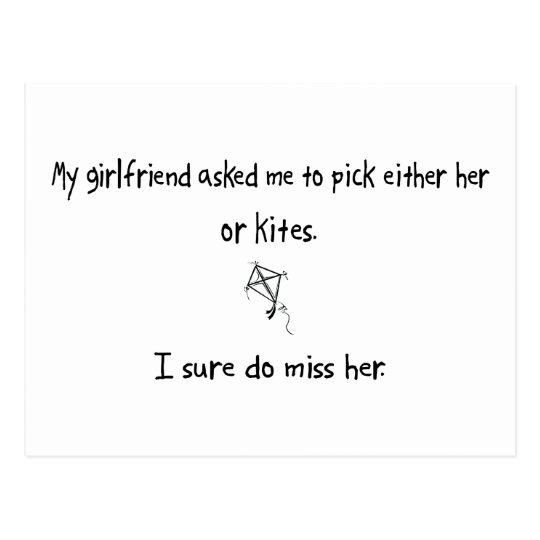 Pick Girlfriend or Kites Postcard