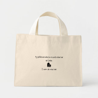 Pick Girlfriend or Latin Canvas Bag