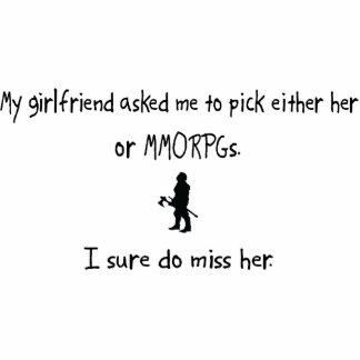 Pick Girlfriend or MMORPGs Acrylic Cut Outs