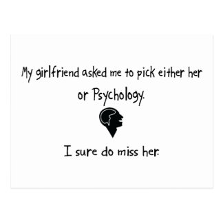 Pick Girlfriend or Psychology Post Card