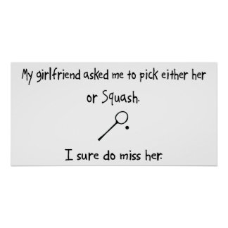 Pick Girlfriend or Squash Posters