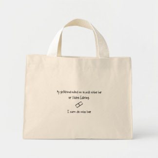 Pick Girlfriend or Video Editing Canvas Bag