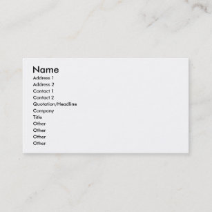 Pick Husband Or Teaching The Visually Impaired Business Card