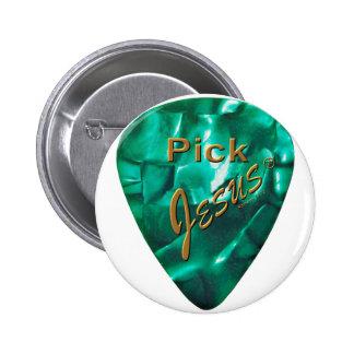 Pick Jesus 6 Cm Round Badge