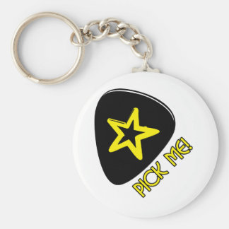 Pick Me! Basic Round Button Key Ring