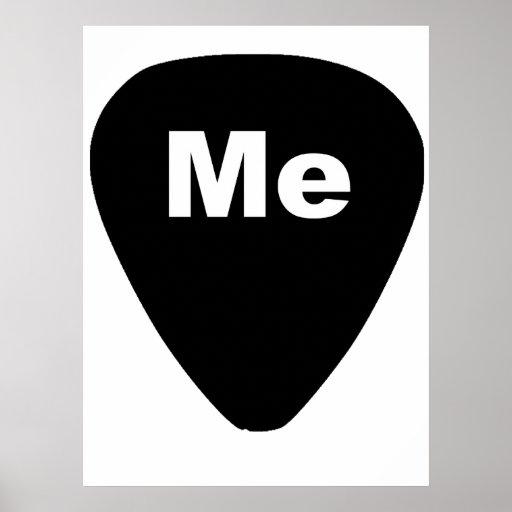 Pick Me Funny Guitar Player Poster