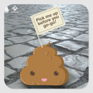Pick me up before you go go square sticker