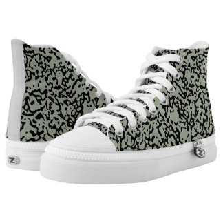 """""""Pick The Colour"""" Marbled Pattern High Top Sneaker Printed Shoes"""