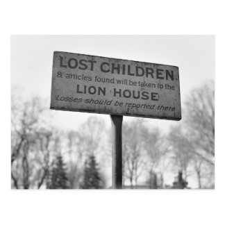 Pick Up Lost Children at the Lion House: 1943 Postcard