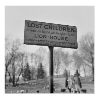 Pick Up Lost Children at the Lion House: 1943 Poster