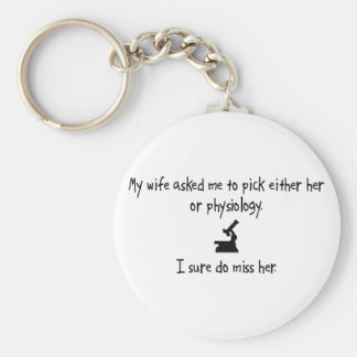 Pick Wife or Physiology Key Chain