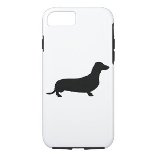 Pick Your Color Background Dachshund Silhouette iPhone 7 Case
